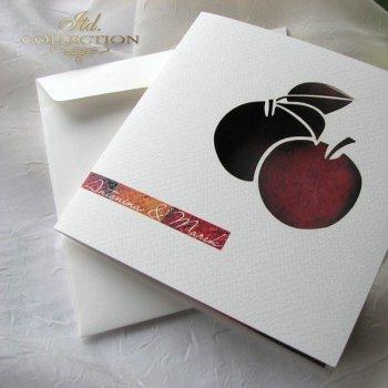 Einladungskarten / Hochzeitskarte 1731_45_Äpfel