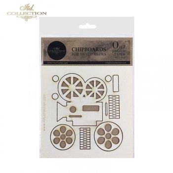 Laserschnitt-Elemente aus Bastelkarton T055A