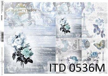 Papier für Serviettentechnik und Decoupage D0536M