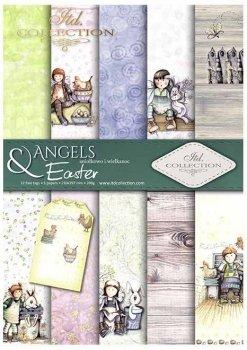 Set von Papieren für Scrapbooking SCRAP-034 ''Engel & Ostern''