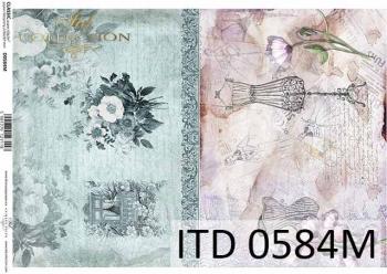 Decoupage paper ITD D0584M