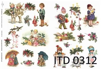 Decoupage paper ITD D0312