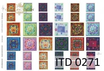 Decoupage paper ITD D0271
