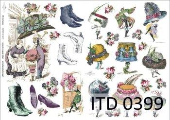 Decoupage paper ITD D0399M