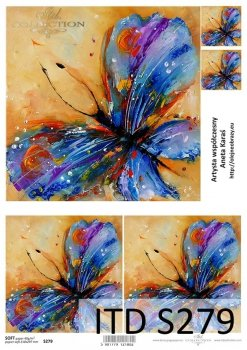 Decoupage paper Soft ITD S0279