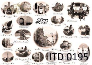 Decoupage paper ITD D0195