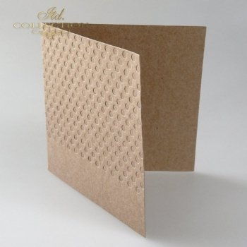 Card Base BDK-018 * dark beige, dots