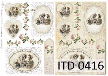 Decoupage paper ITD D0416