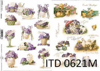 Decoupage paper ITD D0621M