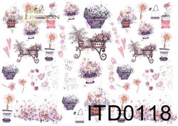 Decoupage paper ITD 0118M