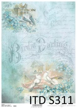 Decoupage paper Soft ITD S0311