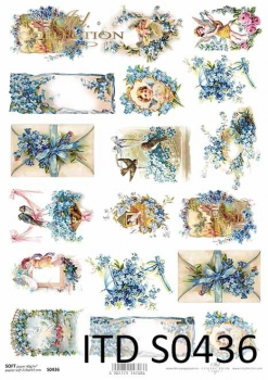 Decoupage paper Soft ITD S0436