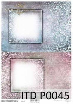 Translucent scrapbooking paper P0045