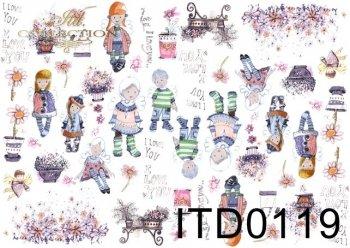 Decoupage paper ITD 0119M
