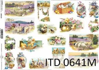 Decoupage paper ITD D0641M