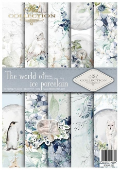 Scrapbooking papers SCRAP-050 ''The world of ice porcelain''