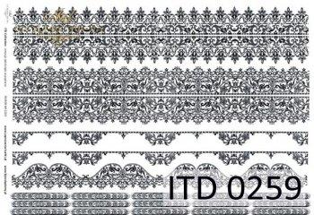 Decoupage paper ITD D0259
