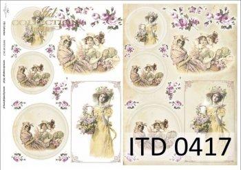 Decoupage paper ITD D0417