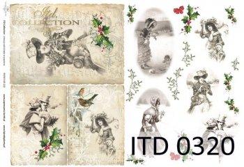 Decoupage paper ITD D0320M