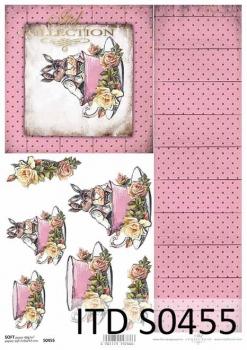 Decoupage paper Soft ITD S0455