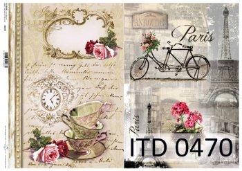Decoupage paper ITD D0470M