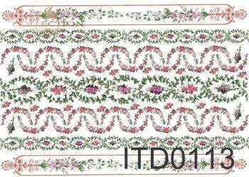 Decoupage paper ITD D0113M