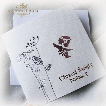 invitation to the baptism 1746 7 apple blossom