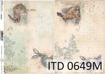 Decoupage paper ITD D0649M