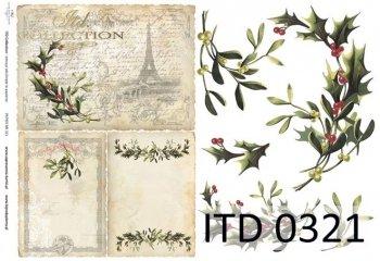 Decoupage paper ITD D0321M