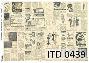 Decoupage paper ITD D0439