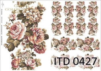 Decoupage paper ITD D0427
