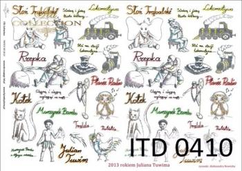Decoupage paper ITD D0410M