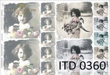 Decoupage paper ITD D0360M