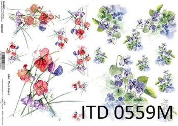 Decoupage paper ITD D0559M