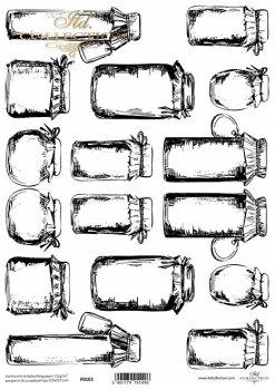 Translucent scrapbooking paper P0103