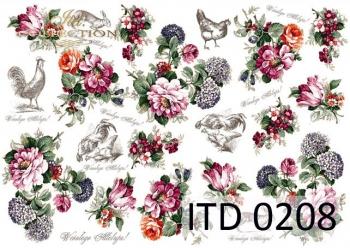 Decoupage paper ITD D0208