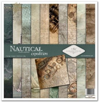 Scrapbooking papers SLS-004 ''Nautical expedition''