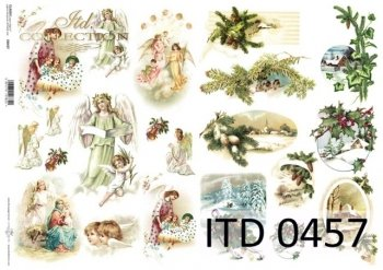 Decoupage paper ITD D0457