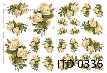 Decoupage paper ITD D0336M