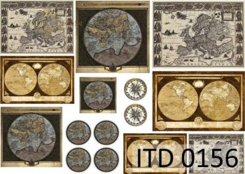 Decoupage paper ITD 0156M