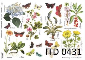 Decoupage paper ITD D0431M