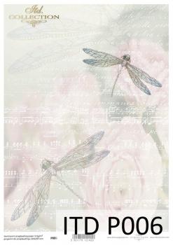 Translucent scrapbooking paper P0006