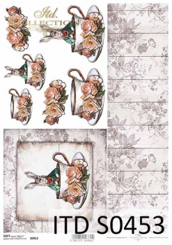 Decoupage paper Soft ITD S0453