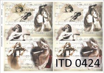 Decoupage paper ITD D0424M