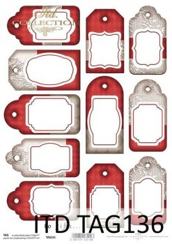 Tags, frames to scrapbooking TAG0136