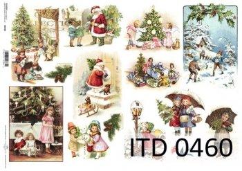Decoupage paper ITD D0460
