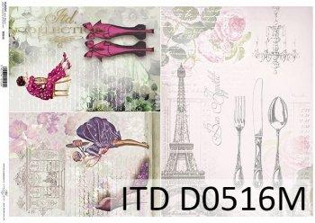 Decoupage paper ITD D0516M