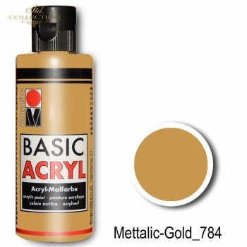 Farba akrylowa Basic Acryl 80 ml Mettalic-Gold 784