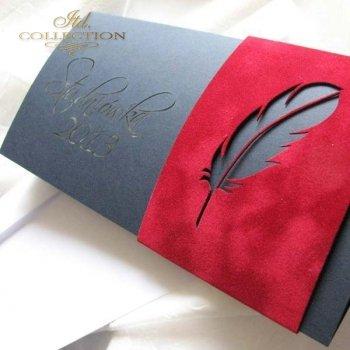Zaproszenia  na studniówkę ZS_80 z elegancką kopertą