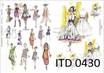 Papier decoupage ITD D0430